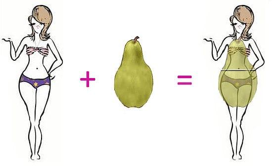 Como deshacerse de la forma de pera en el cuerpo
